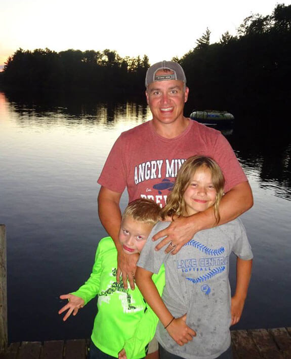 Troy Barron with Kids at Chippewa Flowage