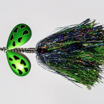 Sasquatch Lure Company - Double Tinsel - Double 10 - Black, Limetreuse