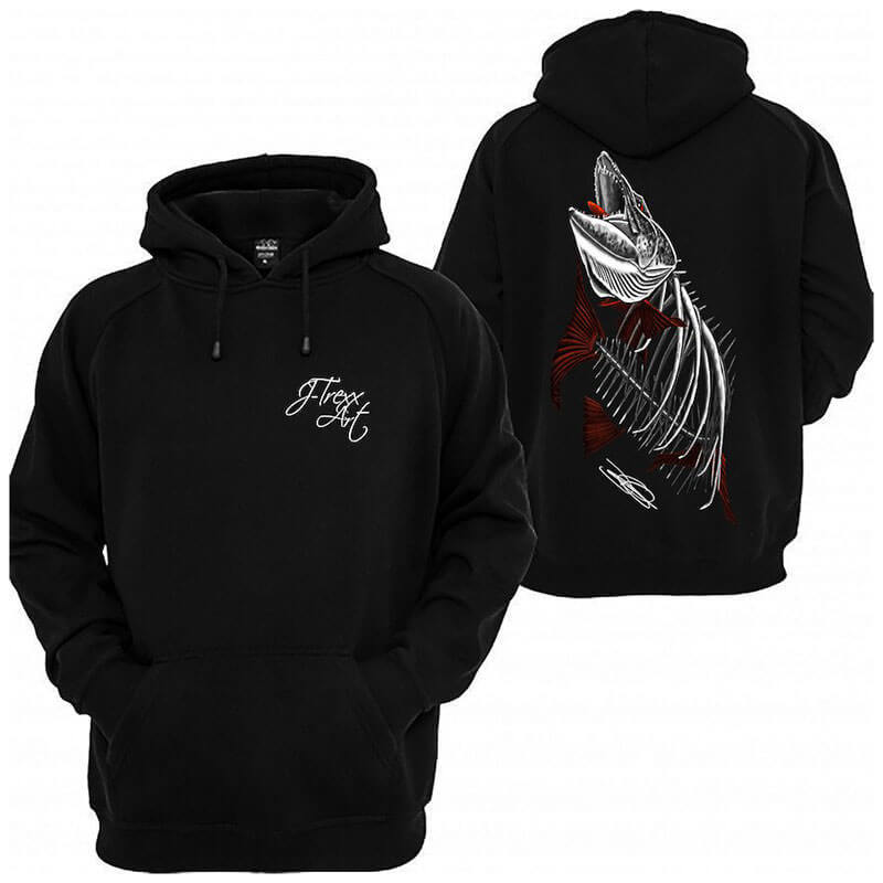 J-Trexx Art | Zombified Musky Hoodie (Men) | MuskyChasers.com