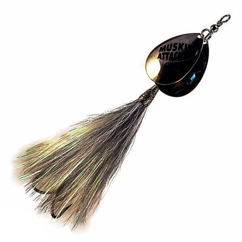 Muskie Attacker Double 7 Bait - Atomic Shad Color - MuskyChasers