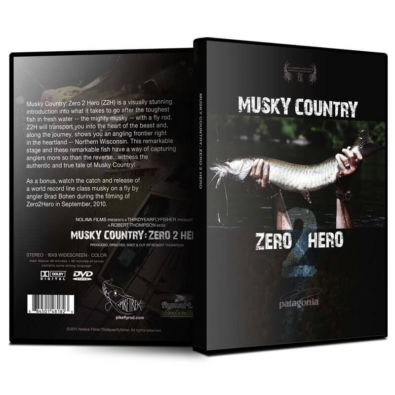 Musky Country: Zero 2 Hero (Z2H) DVD (front & back) - MuskyChasers.com