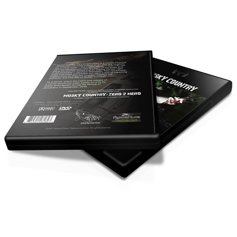 Musky Country: Zero 2 Hero (Z2H) DVD (laying down) - MuskyChasers.com