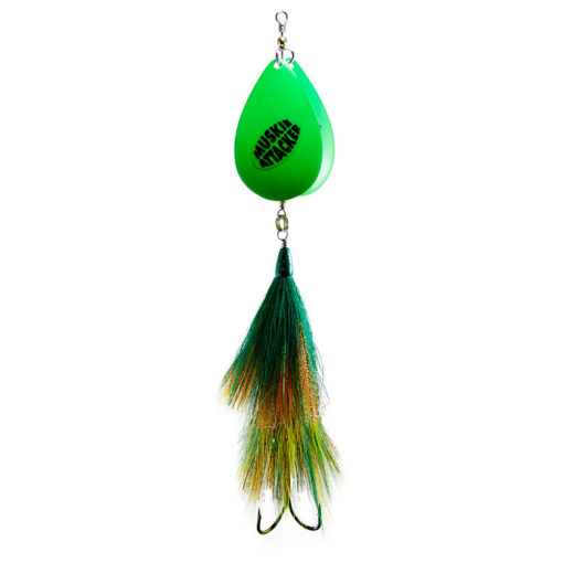 Muskie Attacker - Big Chuck bait - Green Perch color - MuskyChasers