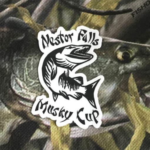 Nestor Falls Musky Cup Vinyl Sticker - MuskyChasers.com